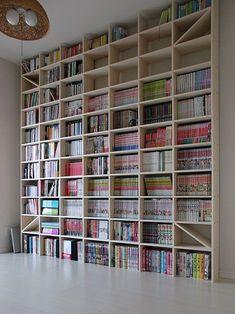Floor To Ceiling Bookshelves, Wall Bookshelves, Home Library Design, House Design, Vinyl Shelf, Building Shelves, Library Inspiration, Otaku Room, Bookshelf Plans