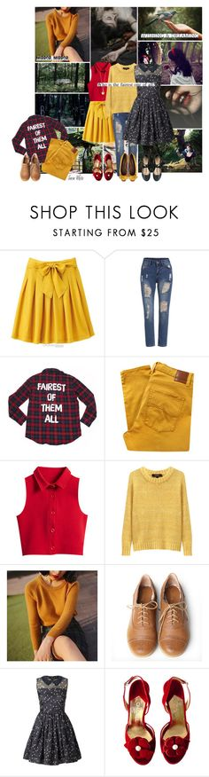 """""""Snow White (Snow White and the Seven Dwarfs)"""" by smol-snowflake ❤ liked on Polyvore featuring Disney, Once Upon a Time, Vers, Nobody Denim, Chicnova Fashion, Isabel Marant, Miss Big, Very Volatile, Orla Kiely and Chanel"""