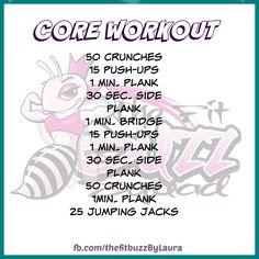 Quick Core Workout.  #core #workout #motivation