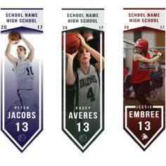 Make your athlete look and feel like an all-star with a pendant style banner.