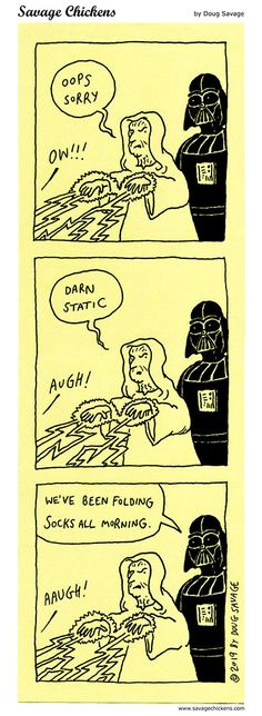 The Emperor Cartoon Folding Socks, Savage Chickens, Peter Mayhew, Darning, Chewbacca, Sticky Notes, Emperor, Cartoon, Humor