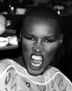 "Grace Jones  trademark `severe' buzzcut was influenced by the powerful, religious men in her family who both frightened and fascinated Jones. Did she consciously create an image to go with the face? ""No. I think the scary character comes from male authority within my religious family. They had that first, and subliminally I took that on. I was shit scared of them."""