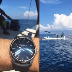 REPOST!!!  The Pioneer on a fishing adventure... no fish though. . .. ... .... #moserwatches #moser #hmoser #luxury #perpetualcalendar  #instawatch #dailywatch#tourbillon #veryrare #makeswissmadegreatagain #moserfamily #baselworld2017 #minimalism #lessismore  Photo Credit: Instagram ID @edmeylan