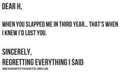 Dear Harry,