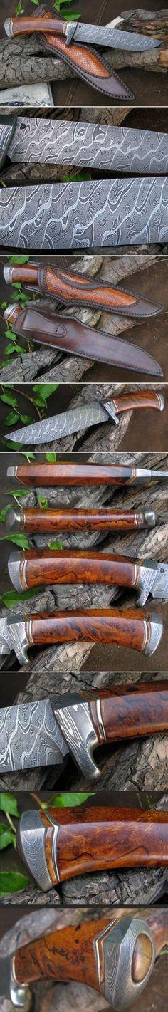 Beautiful blade shape, nice hilt shape, and I really love the wood grain