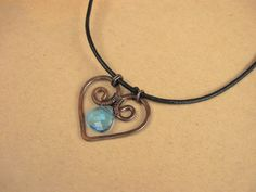 Celtic Antiqued Copper Heart Wire Wrapped by SabineMichaelJewelry, $28.00