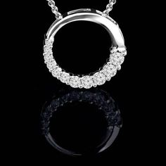 With 11 beautiful round cut diamonds, this necklace means forever. #diamondsforever #majestydiamonds #diamond #necklace