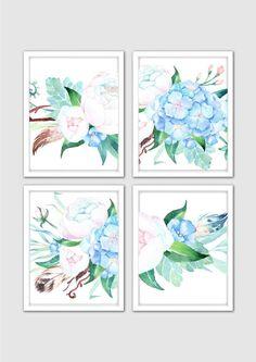 Morning Dew Watercolor Spring Fl Prints Nursery Print Peonies Art Flowers Room Decor By Mintartstudio