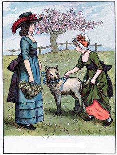 Vintage Children with Lamb Image! - The Graphics Fairy