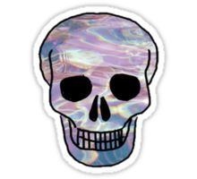 Rainbow hipster skull Sticker