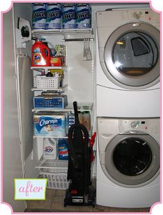 While living in my lovely condo - must maximize the space in my tiny laundry closet, until I get my dream laundry room : )