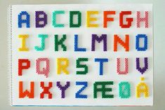 Alphabet - Perler Beads