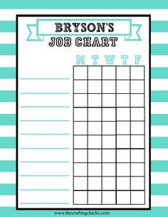 {Job Charts Free Printable}