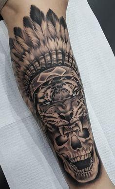 Skull Rose Tattoos, Skull Sleeve Tattoos, Rose Tattoos For Men, Feather Tattoos, Tattoos For Guys Badass, Neck Tattoo For Guys, Small Tattoos For Guys, Forearm Tattoo Men, Best Leg Tattoos