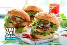Turkey Burger with Pico de Gallo - A healthy option for your Yes You Can! Diet Plan lunch