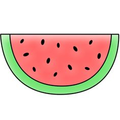 Cute Watermelon Clipart Kawaii Fruit Cute Digi...