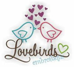 Embroidery Designs (All) - Love Birds Design - Great for Weddings on sale now at Embroitique!