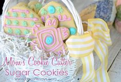 I love these cookie cutter sugar cookies, and THIS is my go-to recipe. This recipe comes from my hot mama who has made these ever since I was little. They're easy to make, fun to decorate, and I love them.