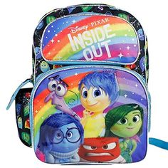 4f8c393f170 Disney Pixar Inside Out Rileys Emotion Face Dot Kids 16 School Backpack Bag  -- Check out this great product.