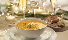 Velouté de butternut à l'orange et fromage Boursin® Poivre