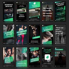 Social Media Banner, Social Media Template, Social Media Design, Instagram Grid, Instagram Design, Instagram Story Template, Instagram Story Ideas, Instagram Animation, Sports Graphic Design