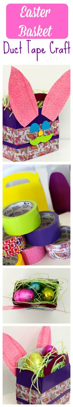 Easter Basket Duct Tape Craft. Using @theduckbrand