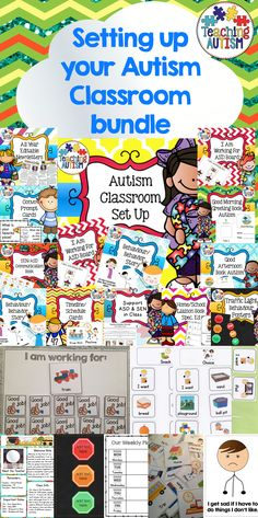 Autism Classroom, Set Up Your Classroom.  This is a bundle of resources from my…