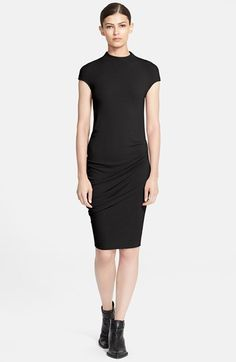 Free shipping and returns on Helmut Lang 'Nova' Jersey Dress at Nordstrom.com. Side shirring eases the body-conscious fit of a high-neck, cap-sleeve dress cut from supersoft jersey.