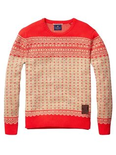 A really great Christmas sweater... Fair Isle Pull In Bright Knitting Pattern Sweater by Scotch & Soda