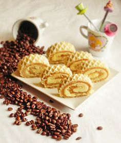 Wafer Roll - taste combined with the caramel cream milk powder