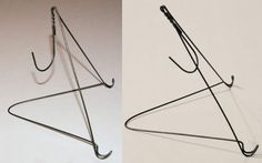 Need to display signs or one sheets, but don't want to spend a small fortune on frames or easels?   Make your own easels. With a sturdy wire hanger and a pair of pliers, you can make your own tabletop easel.  The sign will cover all but the easel's base tips, so it's highly unlikely ...