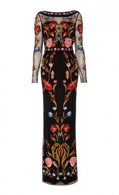 Long Toledo Tulle Dress - Temperly London