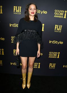 Marion Cotillard wearing Andrew Gn AW16, HFPA-InStyle G.Globe kickoff party, 10NOV16