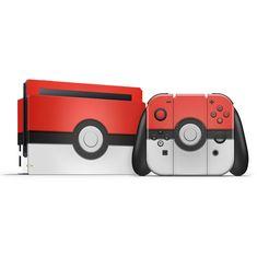 The Joy-Con holder and the Switch dock as a Pokeball where the upper side is red and the lower side is white. Super Smash Bros, Super Mario Bros, Katamari Damacy, Playstation, Nintendo Switch Accessories, Nintendo Switch Games, Disney Infinity, Old Games, Cute Gif