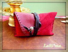 Leather Handmade  Tobacco / Passport case Red  Short by LaRima, $28.00