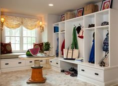 Updating a Traditional Two-Story House in Delaware: old kitchen turned into new mudroom