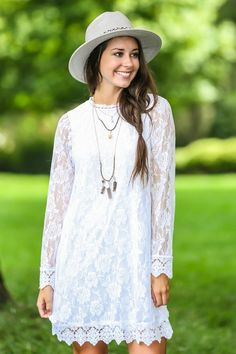 Laced With Love Dress-White - New Today