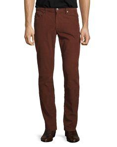 718 Slim-Fit Corduroy Pants, Bark