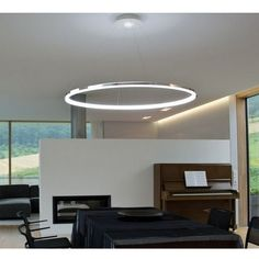 Modern Luminaire suspendu Pendant Light avec anneau de LED pour la famille/Bure #ModernContemporary