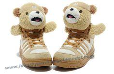 Adidas X Jeremy Scott Teddy Bear Shoes Brown Online