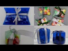 http://recicladocreativo.com/ Cómo hacer cajas de regalo con botellas de plástico pet - How to make pillow boxes with recycled plastic bottles Ideas inspirad...
