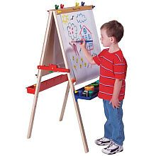 Melissa and Doug Large Standing Easel http://www.toysrus.com/buy/arts-crafts-supplies/easels-art-tables/melissa-doug-deluxe-large-standing-easel-1282-2267350