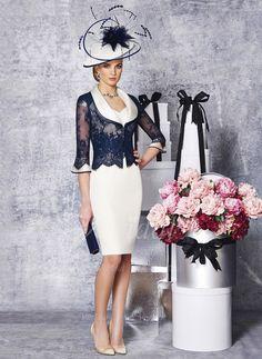 Sheath Column Asymmetrical Knee-length Satin Lace Mother of the Bride Dress fa05a61cec