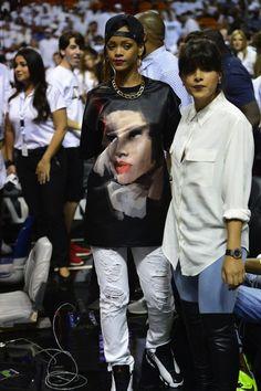 Rihanna wearing Air Jordan XIII « He Got Game » Air Jordans Women a4abb90ef497