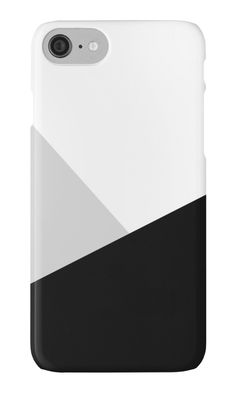 Monochromatic Phone Case by ARTbyJWP from Redbubble #phonecases #iphonecase #samsunggalaxycase #phoneaccessories #geometrical  --   A minimalist abstract composition of three triangles in black, white and gray. • Also buy this artwork on bags, apparel, stickers, and more.