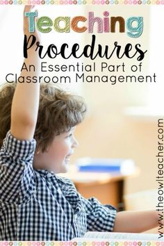 Teaching procedures are an essential part of classroom management! Check out these classroom management tips to ensure that you have a successful school year by teaching procedures in your classroom!