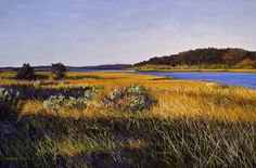 Fall Marsh by Leslie Smith, fall pastel painting