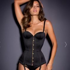 Agent Provocateur Mercy Corset Satin Black Never been used, tags still attached and in box. Comes with straps. Price negotiable on p p. Agent provocateur Intimates & Sleepwear
