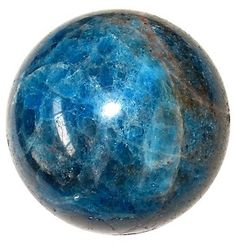 Blue Apatite; an inspirational stone. It develops psychic abilities and spiritual attunement. Use it to aid communication and self-expression. Apatite heals bones, aids absorption of calcium, helps cartilage, bones, teeth and motor skills. Relieves arthritis, joint problems. Overcomes hypertension