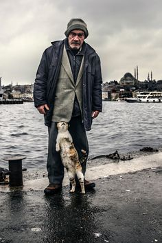 'Stray cats', by Sami Uçan. And some people (fools) don't think cats feel love... <